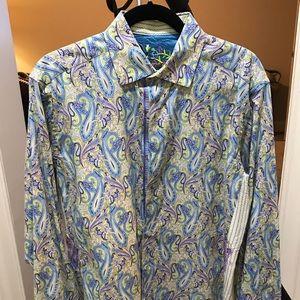 Robert Graham Pasley Shirt. Size M